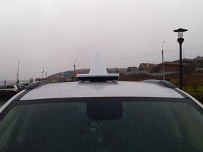 Рекламный световой короб на такси «Бонус»