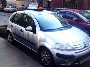 Рекламный световой короб на такси «Мегаполис»