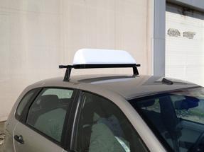 Рекламный световой короб на такси «Трафик»