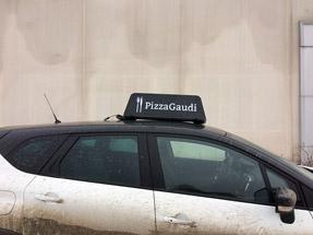 Рекламный световой короб на такси «Бонус-AV»