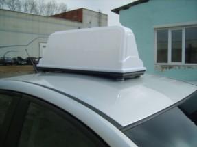 Рекламный световой короб на такси «Миди-800 Евро»