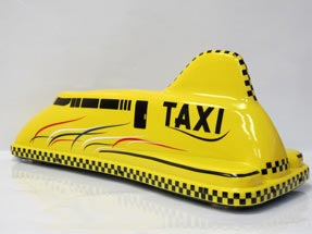 Рекламный световой короб на такси «Дискавери»