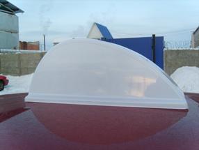 Рекламный световой короб на такси «Капля»
