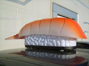 Рекламный световой короб на такси «Якитория»